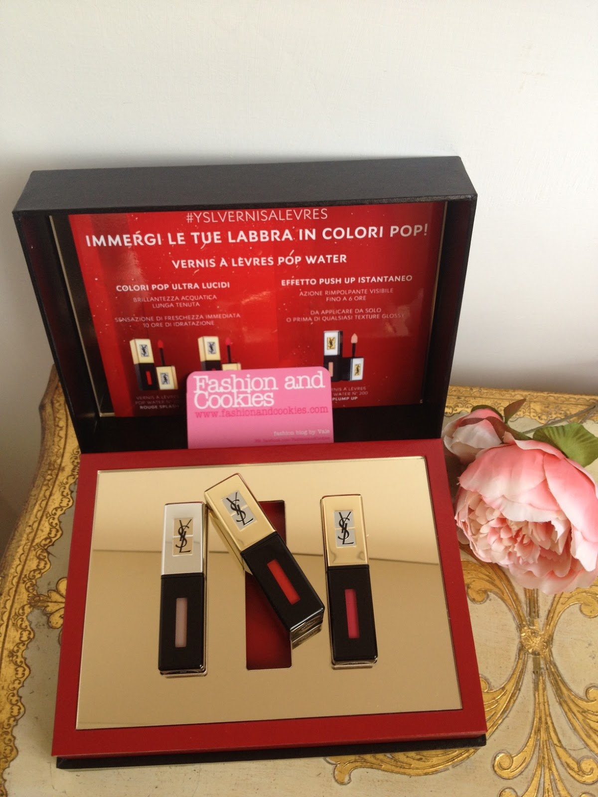 YSL Vernis à Levres POP Water, new Yves Saint Laurent Glossy stains on Fashion and Cookies fashion blog