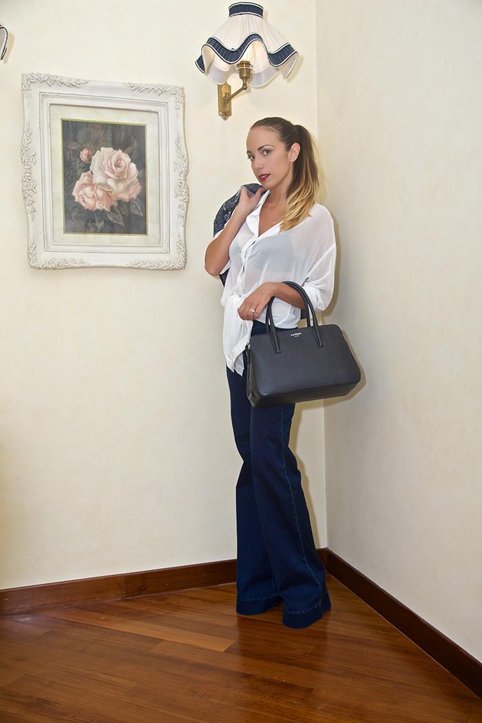 outfit jeans zampa elefante