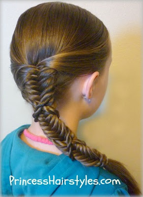 fishbone braid wrapped with twist braids tutorial