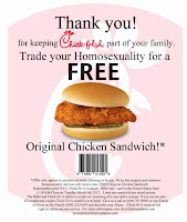 Trade your Homosexuality for a Chicken Sandwich!