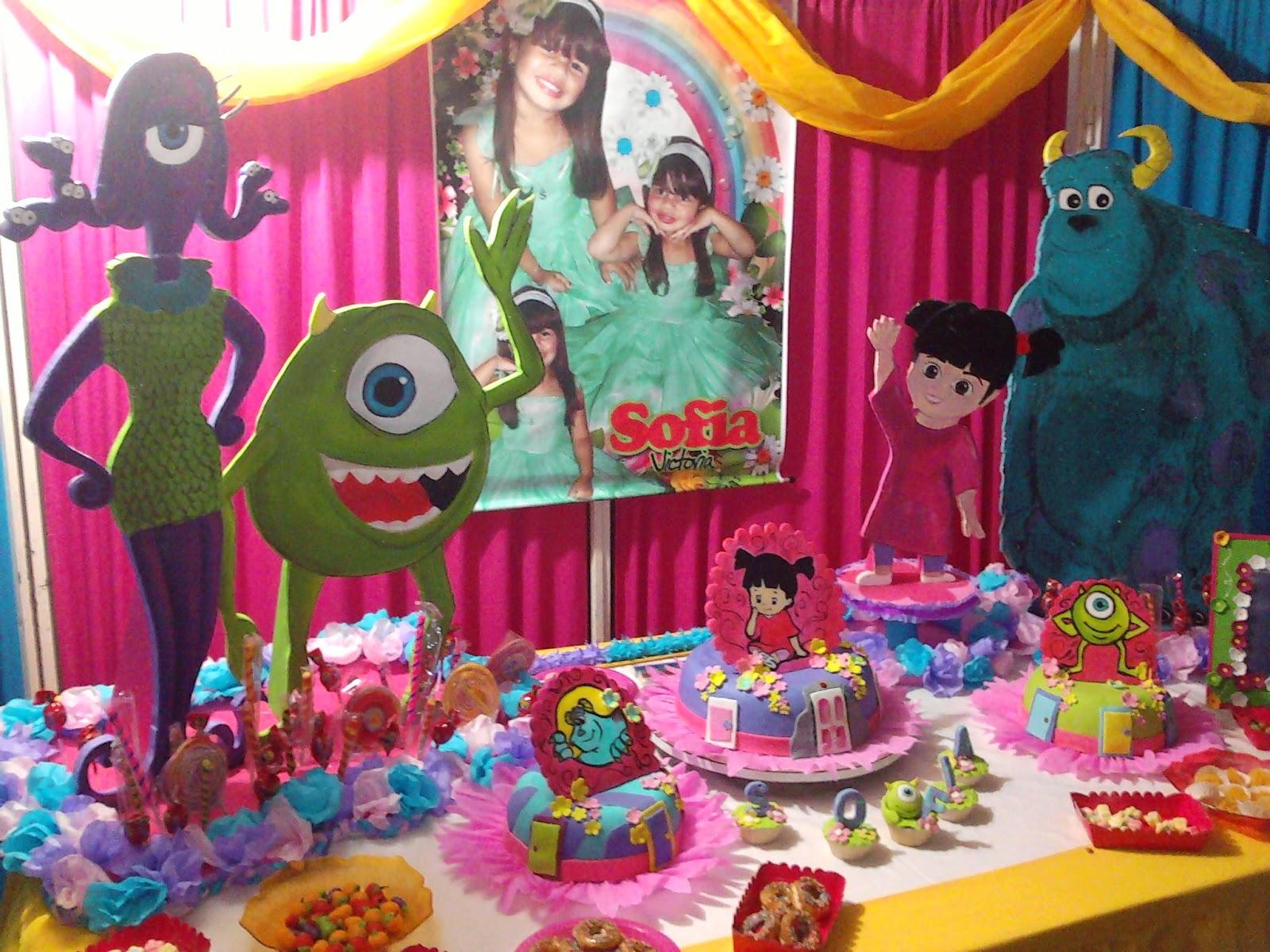 Decoraciones fiestas infantiles monster inc auto design tech - Decoracion fiesta infantil ...
