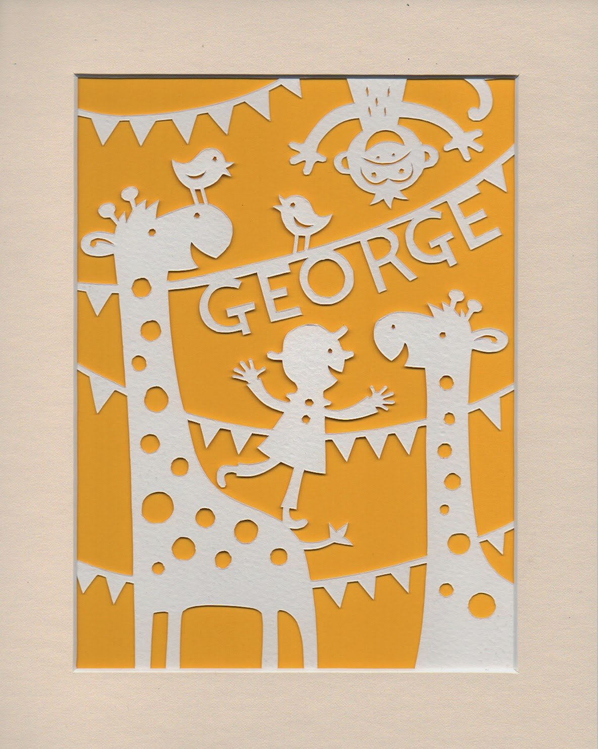 Papercut of Jolly Jungle Scene