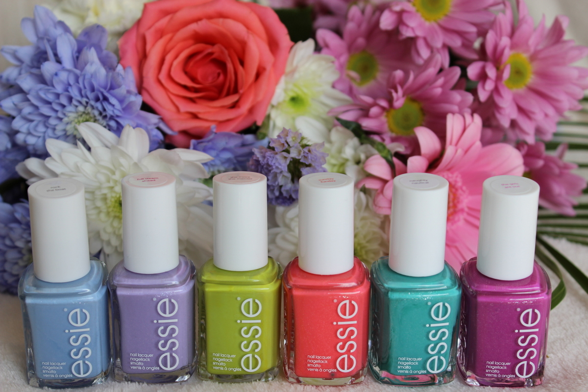 Essie summer 2013 swatches and nail art! | Lovely Girlie Bits ...
