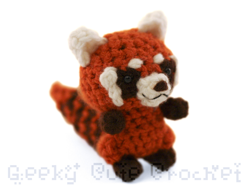 Amigurumi Red Panda : Geeky Cute Crochet Blog: New Amigurumi Animals!