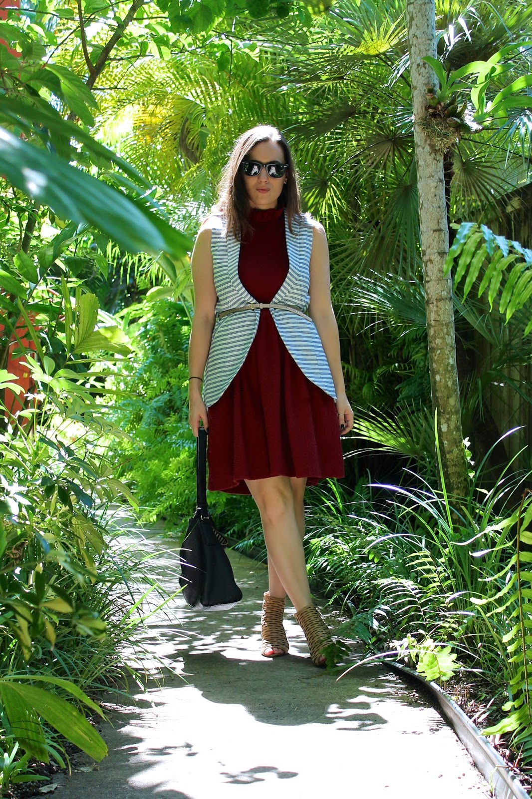 Anthropologie, burgundy, jeffrey campbell, Kate Spade, BCBGeneration, fashion, fall fashion, fashion blog, fashion blogger, style blog, style blogger, Miami fashion blogger, Miami style blog, Miami style, ootd, long vest, cage booties