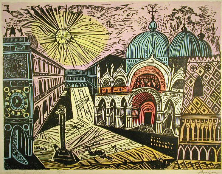 Woodcuts by Irving Amen, American Artist