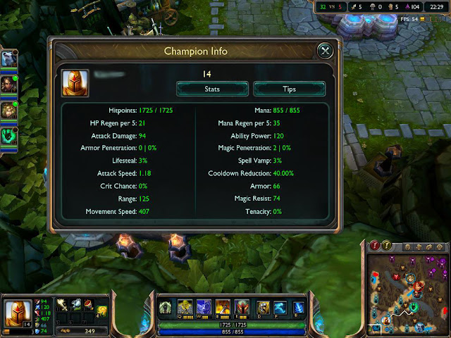 League of Legends - Kayle Champion Build Screenshot