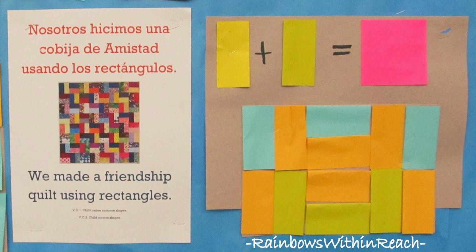 STEM + Arts = STEAM at RainbowsWithinReach: Post-it note Geometry in Preschool