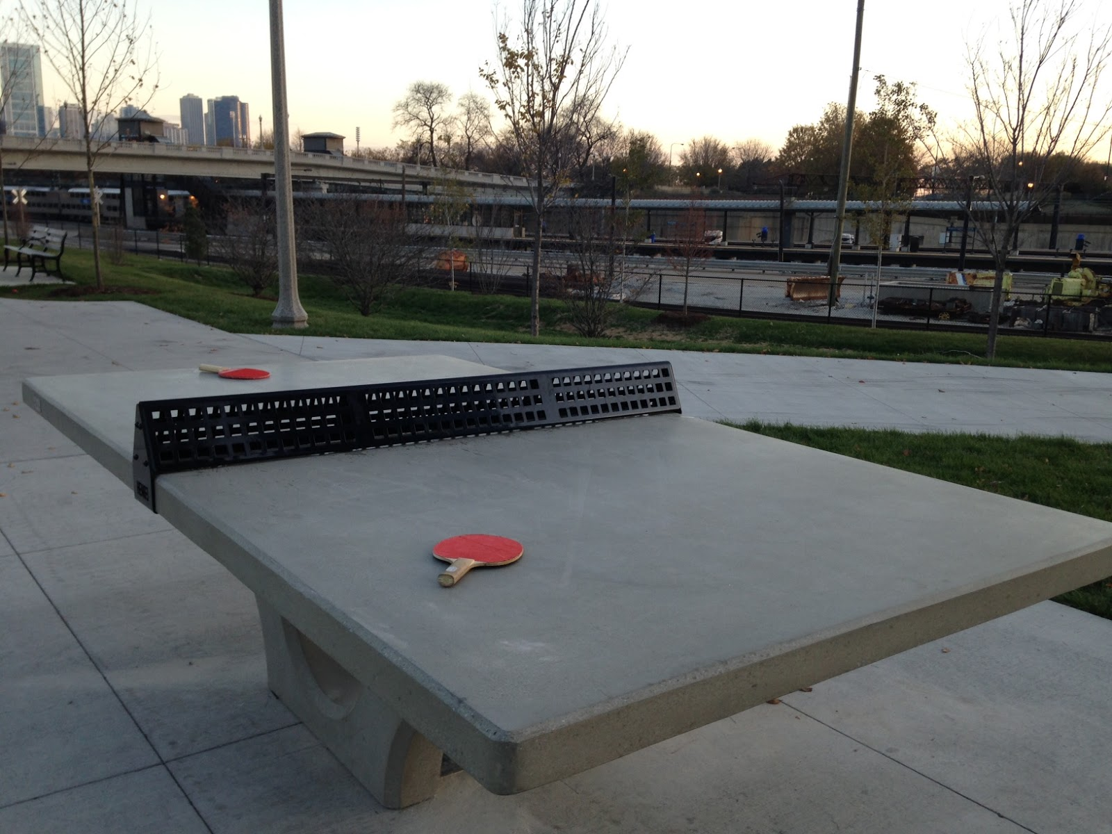 Outdoor Ping Pong Table Installed At 1135 S. Michigan Ave. In Grant Park