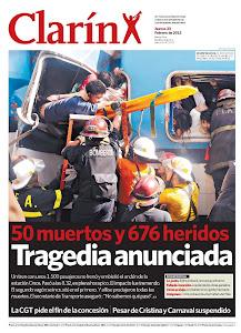tapas de los diarios tragedia de once 23 de febrero