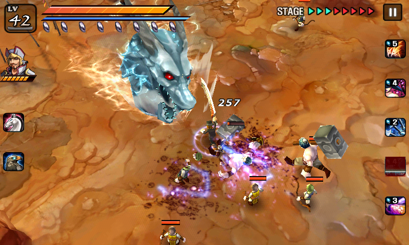 Blue Ice Dragon in Undead Slayer Android Game