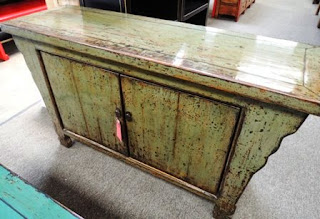 rustic, light green, cabinet, furniture