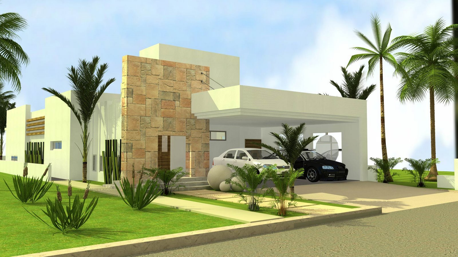 3D Front Elevation House Design Lahore
