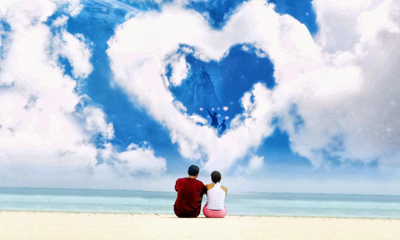 Une lettre d'amour sur la plage