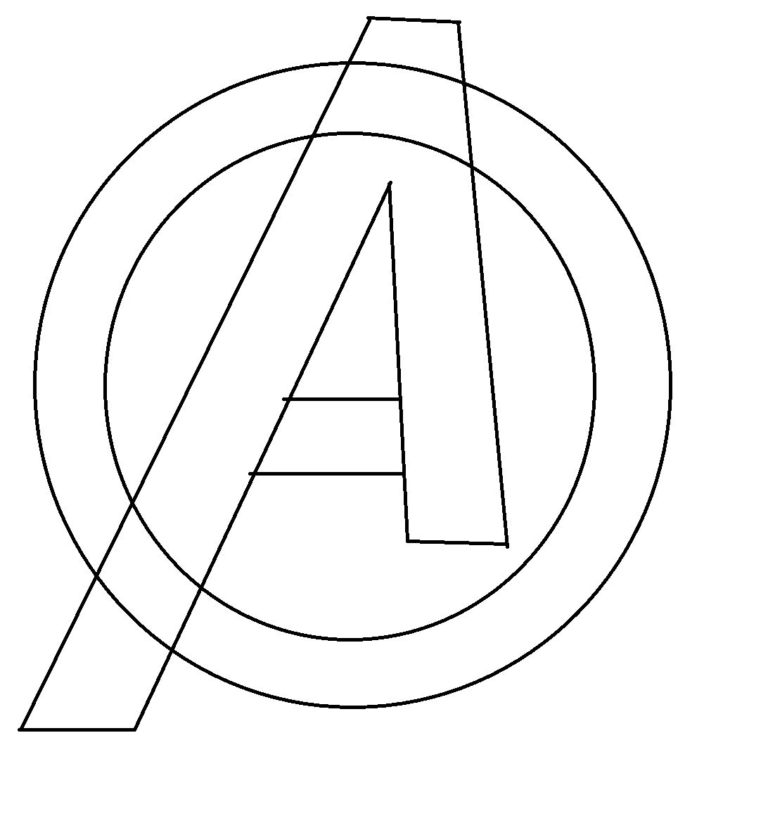 Avengers Symbol Coloring Pages : Pin os vingadores logo on pinterest