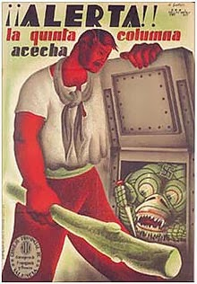 «Внимание! Пятая колонна подстерегает!» (республиканский пропагандистский плакат)