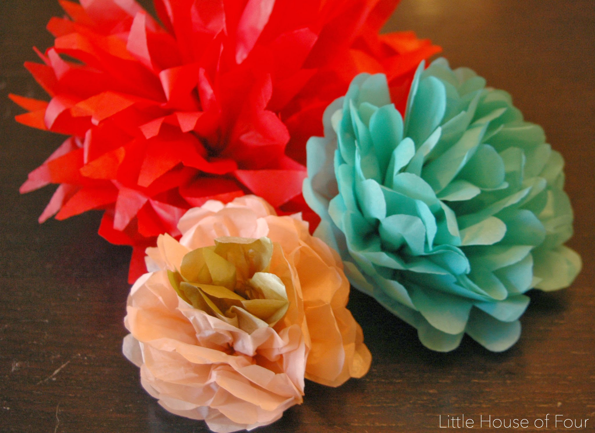 Easy tissue paper flowers | Little House of Four: Easy tissue ...