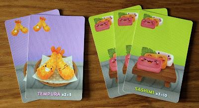 Sushi Go - tempura and sashimi cards | Random Nerdery