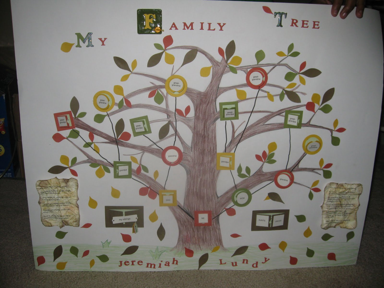 family tree assignment It's fun and educational to explore your ancestry if you study or investigate your family history, you're learning genealogy there are three assignments due on wednesday, april 7th (after spring break.