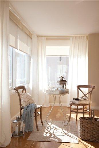 Blog by nela decoraci n serena en el salon quiet in the - Visillos para salones ...
