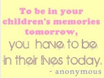 Words to live by, for parents