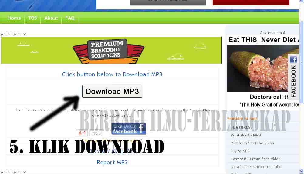 klik download mp3