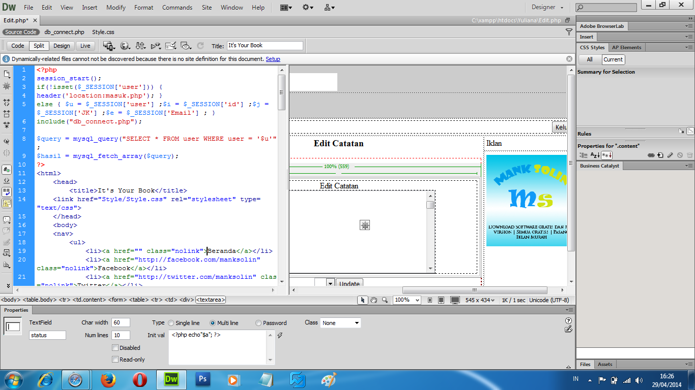 ... membuat designer web tanpa harus mendalami tentang pemmrograman web