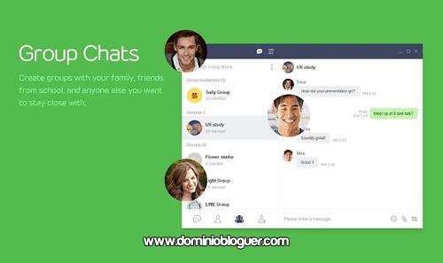 Comparte y envia mensajes con la extension de Line para Google Chrome
