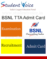 bsnl tta exam 2013 admit card at studentvoice.in