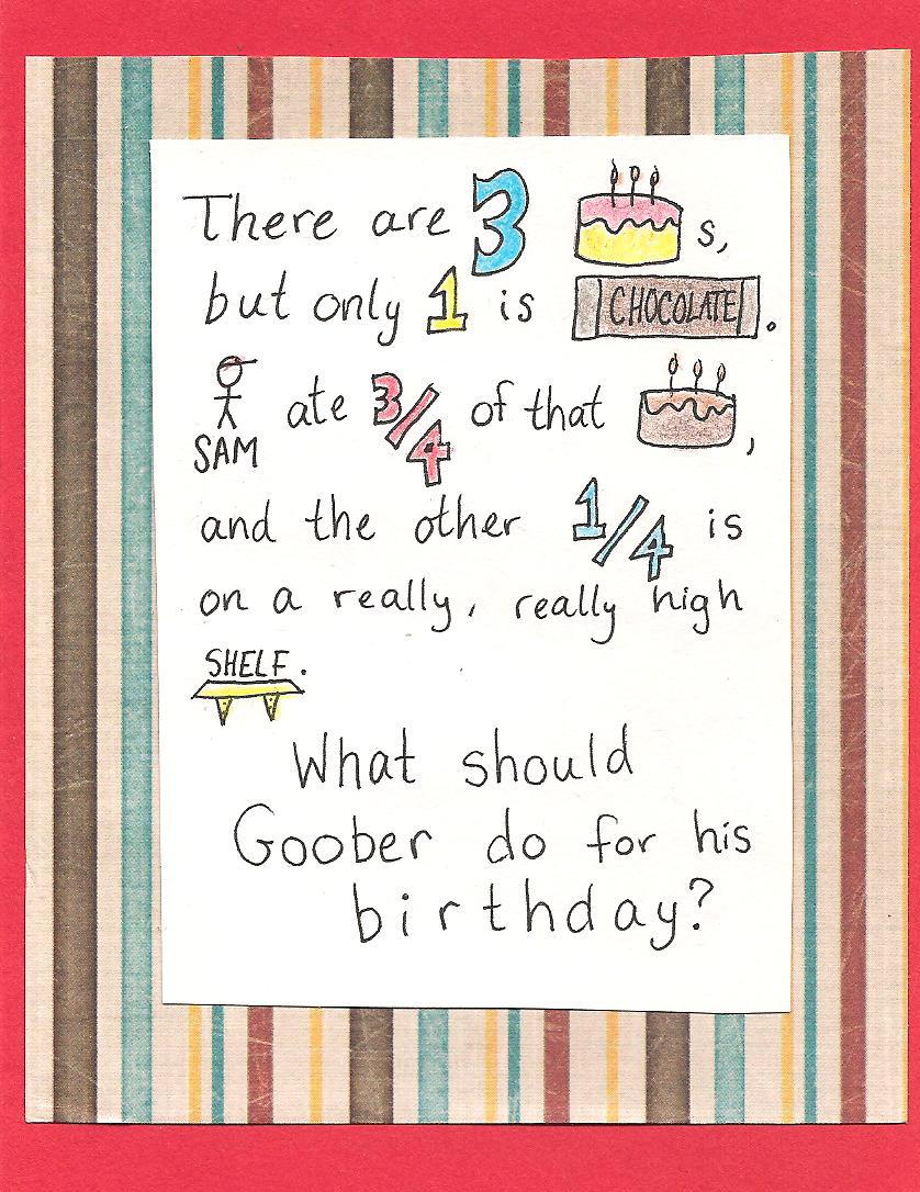 Debbie Dots Greeting Card Blog Word Problem Birthday