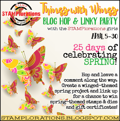Stamplorations Things with wings and blog hop