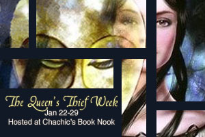 The Queen's Thief Week banner by Chachic's Book Nook