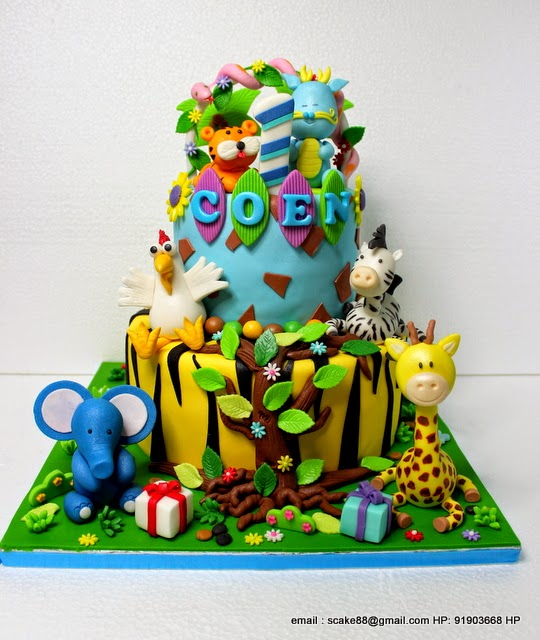 The Sensational Cakes ANIMALS CHILDREN CAKE HOROSCOPE THEME CAKE