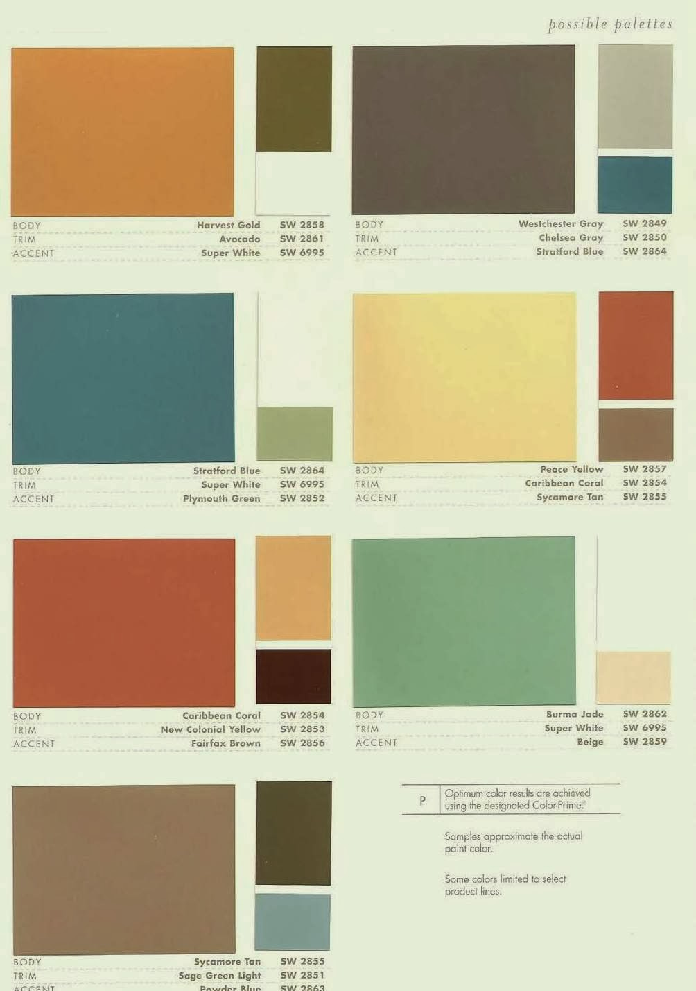 Mid century modern homes exterior paint color home - Modern home color palette ...