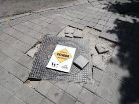 Campaña contra las aceras y calles en mal estado