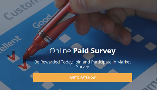 Komisen pertama online paid survey