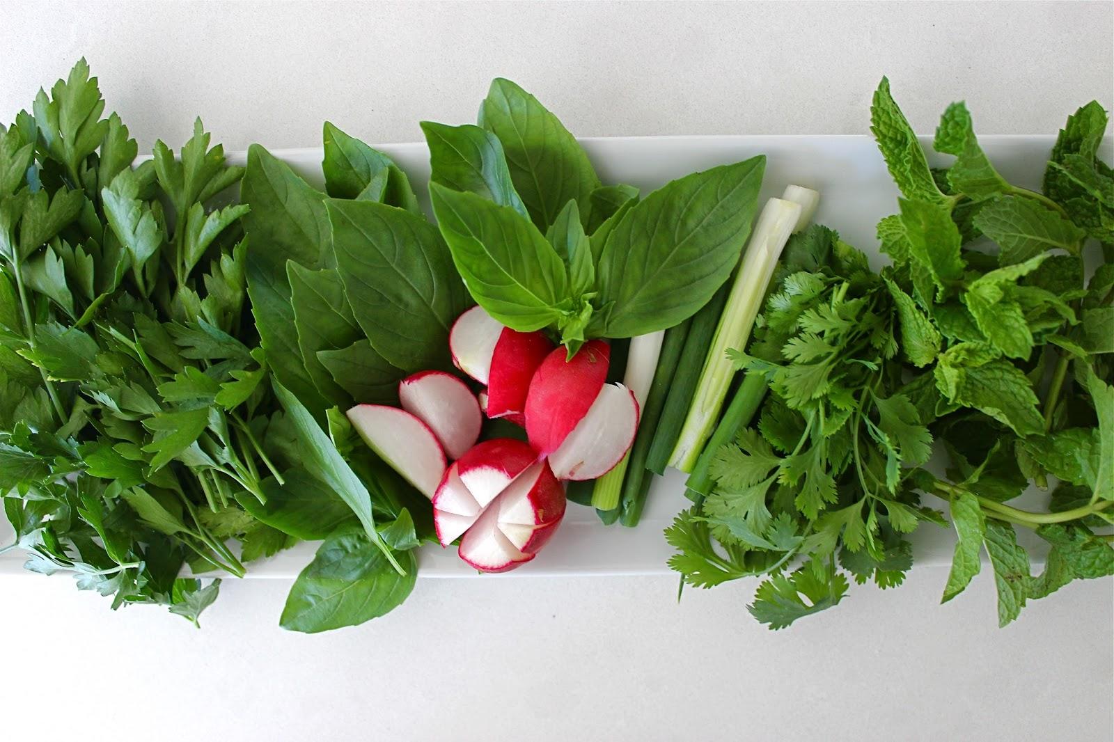 Bottom of the pot a platter of fresh herbs a balancing act sabzi