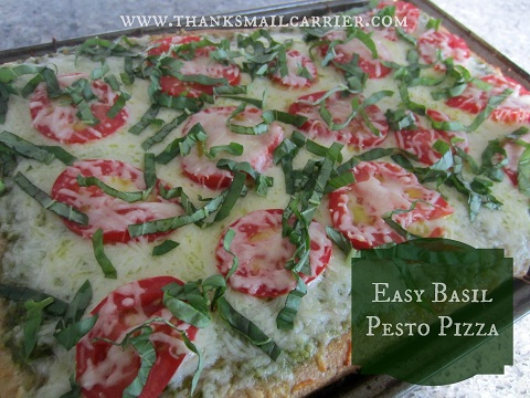 Basil pesto pizza recipe