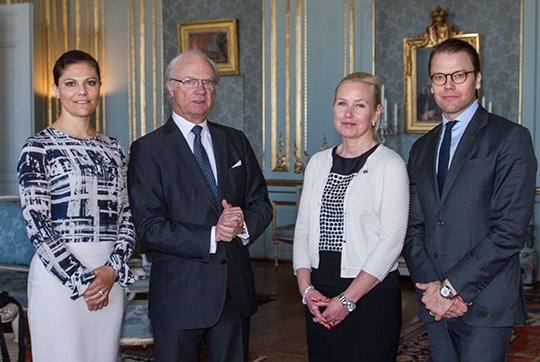 King Carl Gustav of Sweden, Crown Princess Victoria of Sweden and Crown Prince Daniel of Sweden