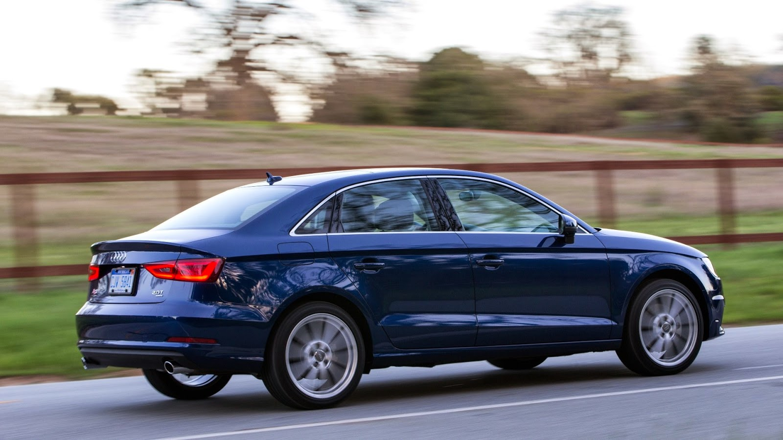 Rear 3/4 view of 2015 Audi A3 TDI