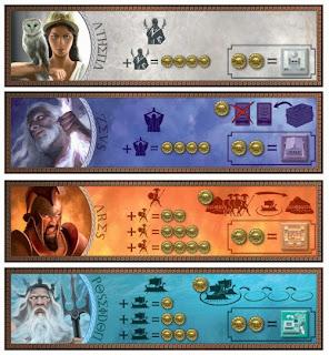 Fichas de dioses del Cyclades