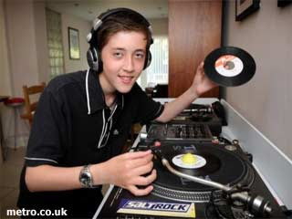 Young DJ at Lily Allen Wedding