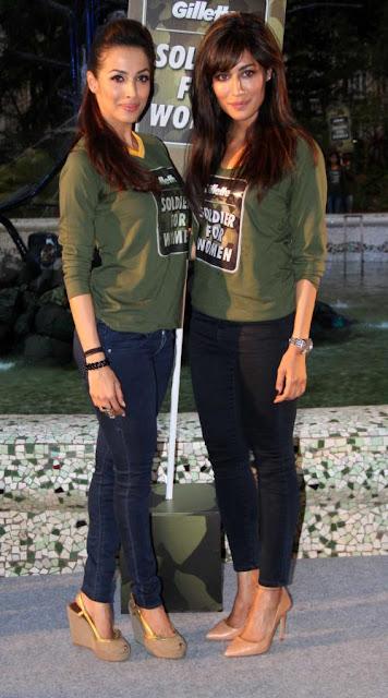 Chitrangada Singh And Malaika Arora At Gillete Event on Women's Day