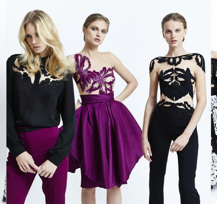 лиловый и черный цвета в одежде