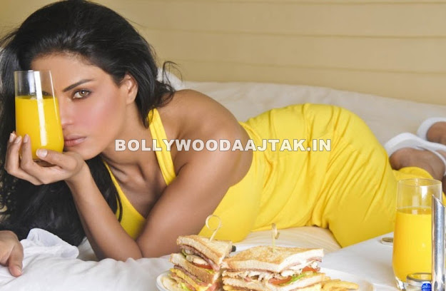 Veena Malik Orange juice photoshoot