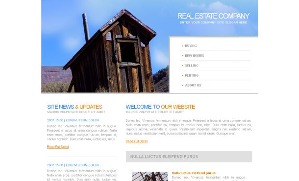 Simple Blue Realestate Business Website Template