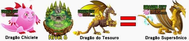 Cruzamentos para fazer o Dragão Supersônico