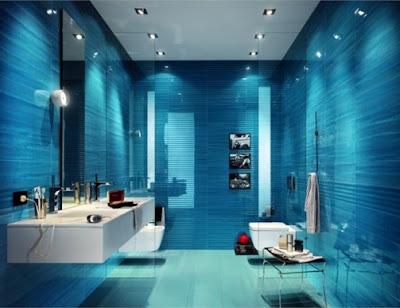 10 foto kamar mandi minimalis biru