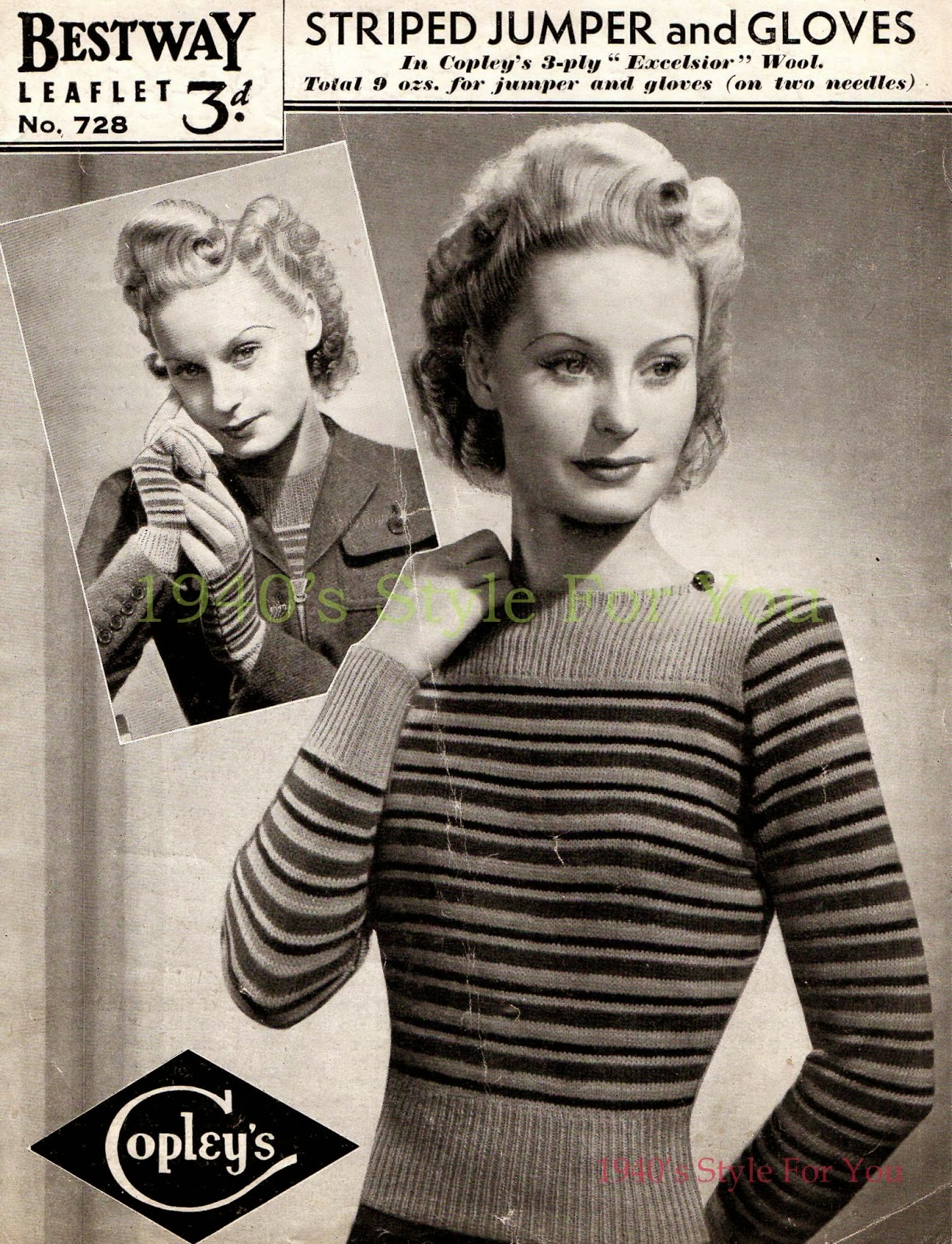 1940s Style For You: Bestway Vintage Knitting Pattern Archive