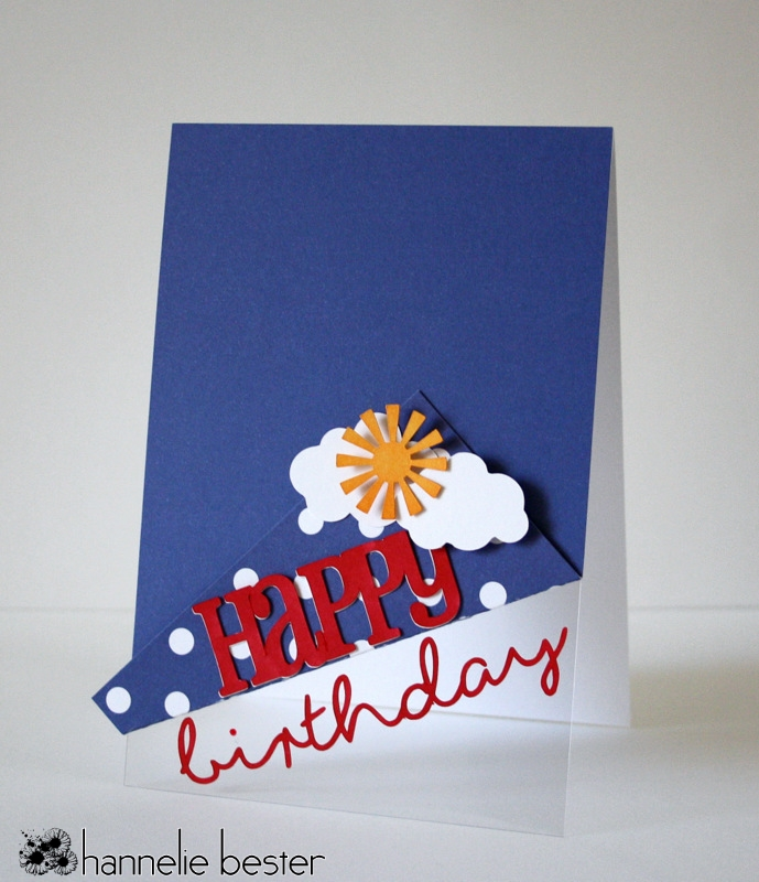 sunshine birthday card using transparency